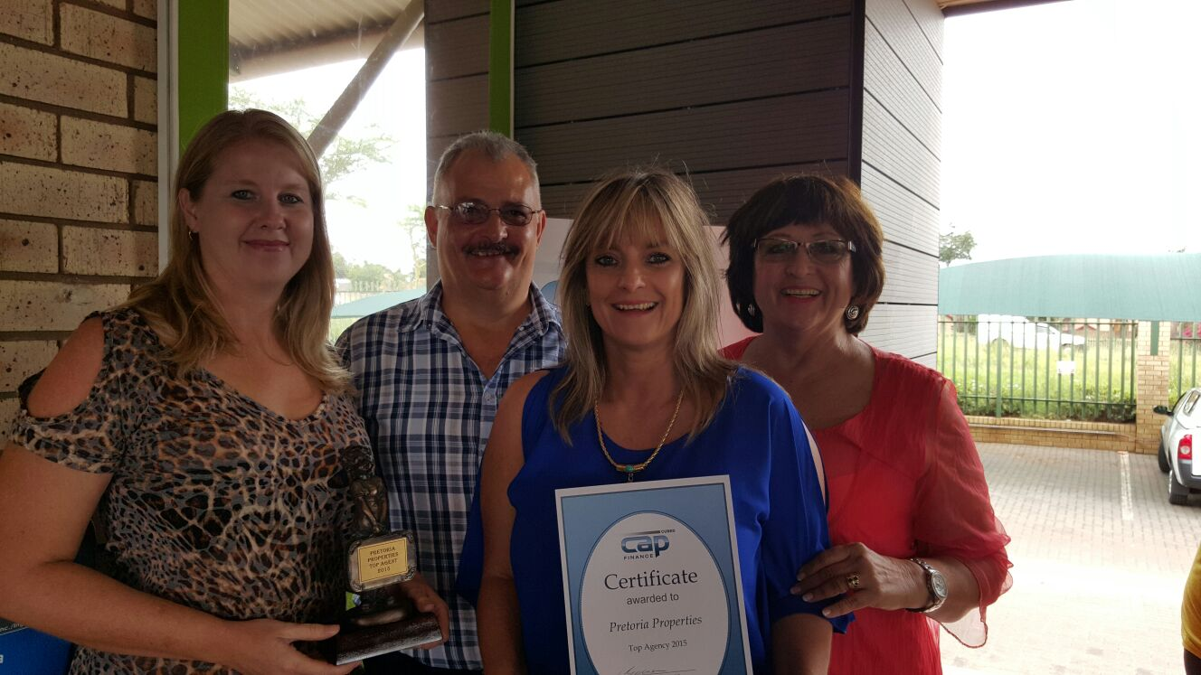 From Left; Maryna Pace, Willie Goosen (Capcubed), Leanne da Silva and Tillie Swart (Principal Pretoria Properties)